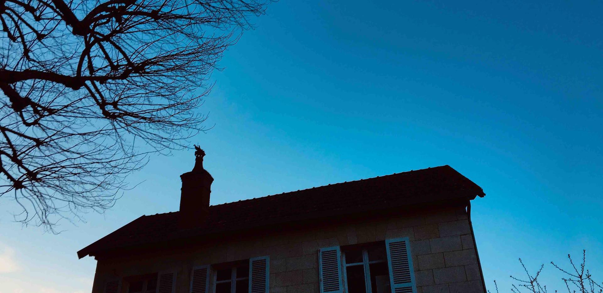 Pigeonnier vue crépuscule