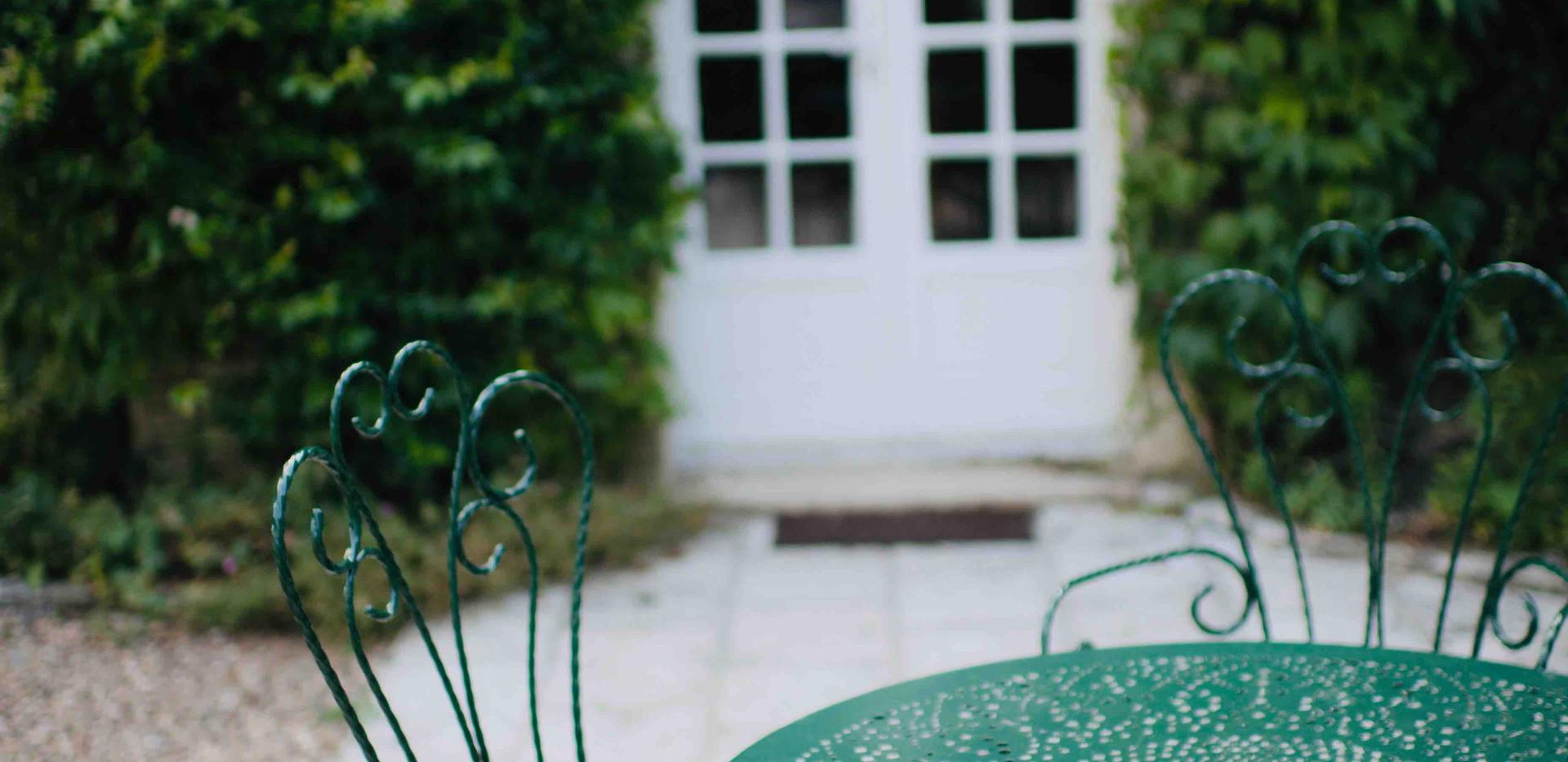 Salon de jardin Maison du Passeur