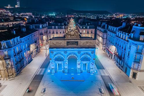 Le Mémorial Désilles de Nancy la nuit