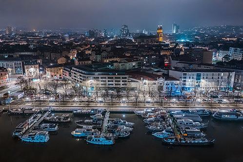 Port de plaisance de Nancy la nuit