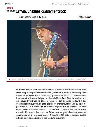 Roanne _ Manu Lanvin, un blues diablemen
