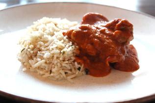 Chicken Makhani and Aromatic Rice