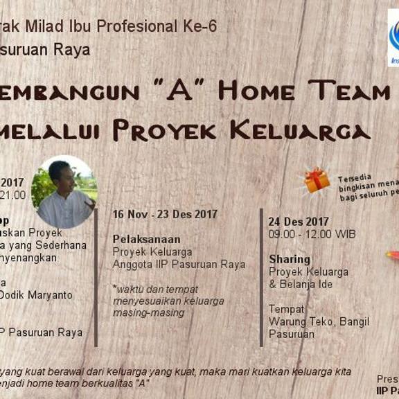 Membangun A Home Team Melalui Projek Keluarga