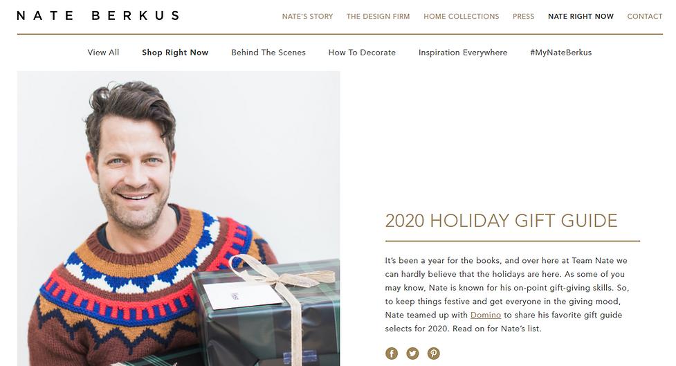 Wax Kandy on Nate Berkus' Holiday Gift Guide