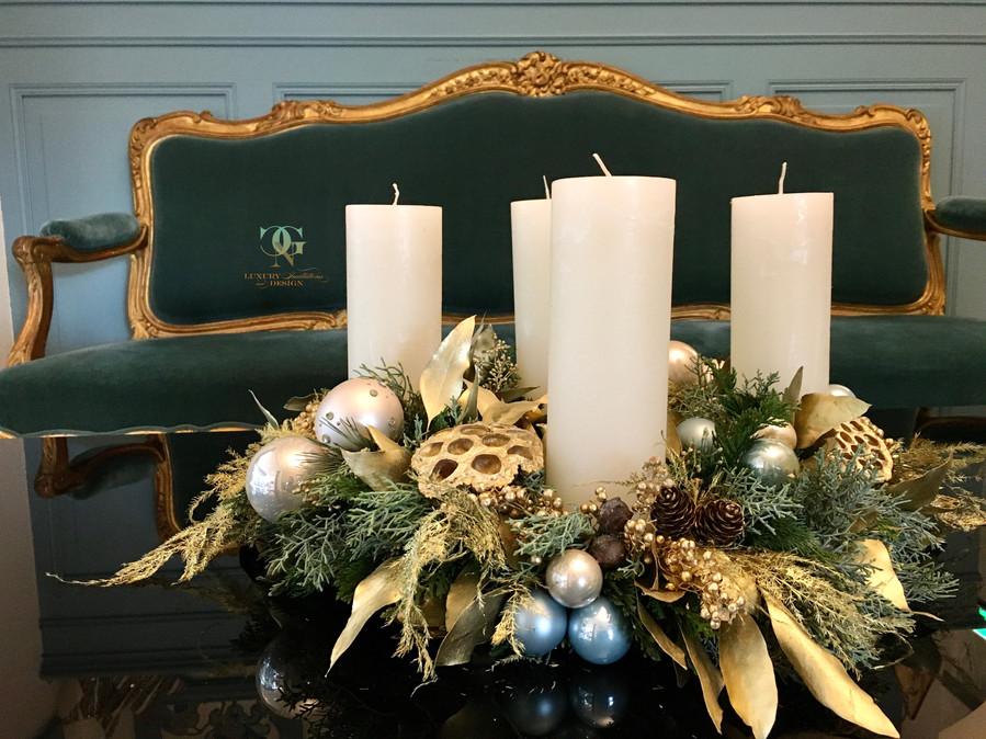 Adventskranz Château Gütsch vom Swiss Christmas Decorator