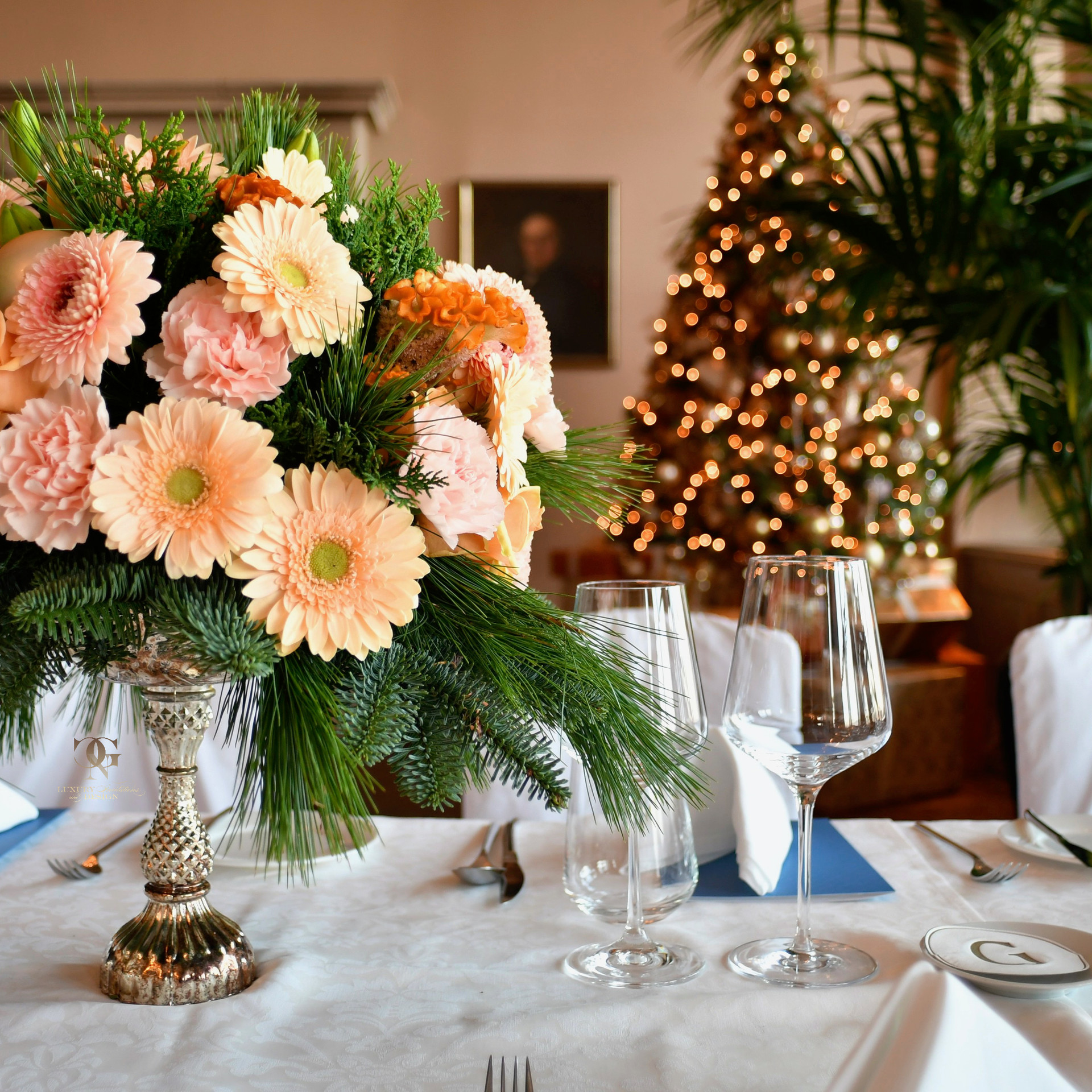 Weihnachtsessen Hugo Boss im Hotel Château Gütsch