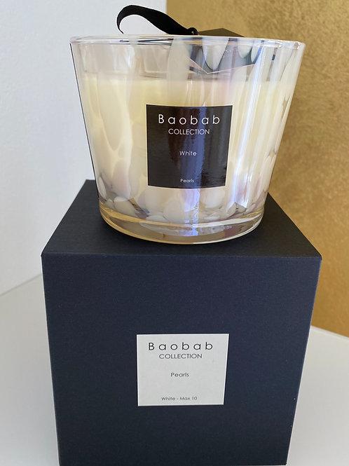 Baobab Duftkerze Pearls White