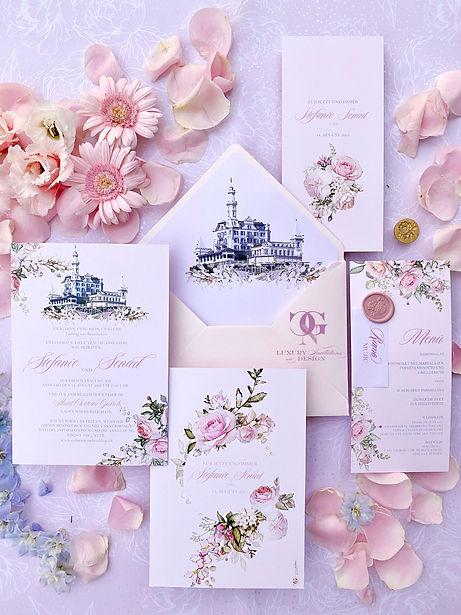 Stefanie Senad Château Gütsch Hochzeit Einladung