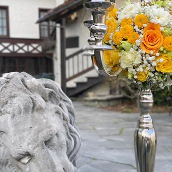 Florist am Offiziersball im Hotel Château Gütsch