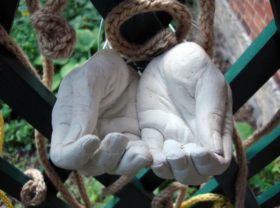 Garden of Affluence, 2011 (detail) Cast plaster, metal wire, yarn.