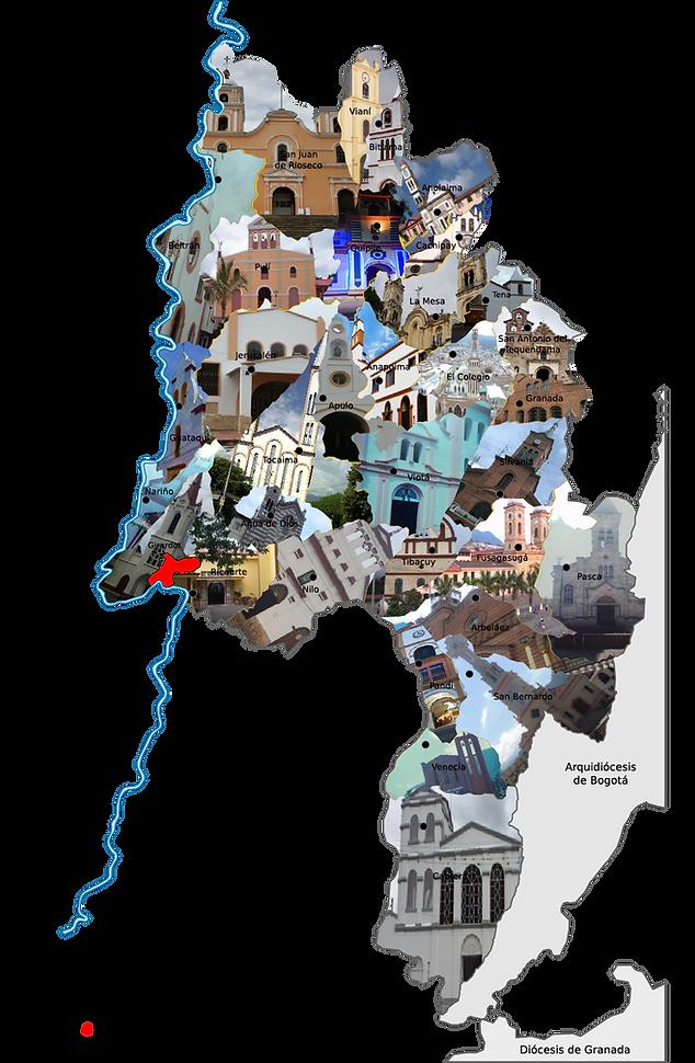 Mapa_Diocesis_de_Girardot con parroquias