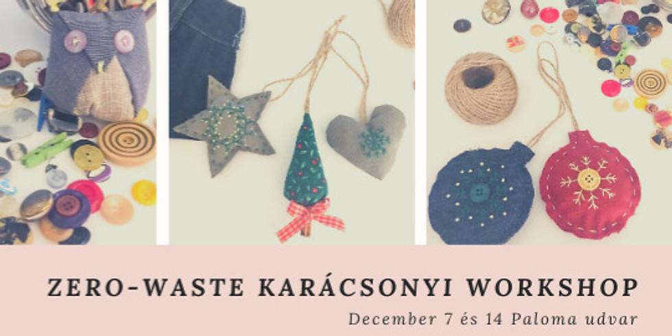 Zero-waste karácsonyi workshop dec. 14. 15:30-18:30- ig