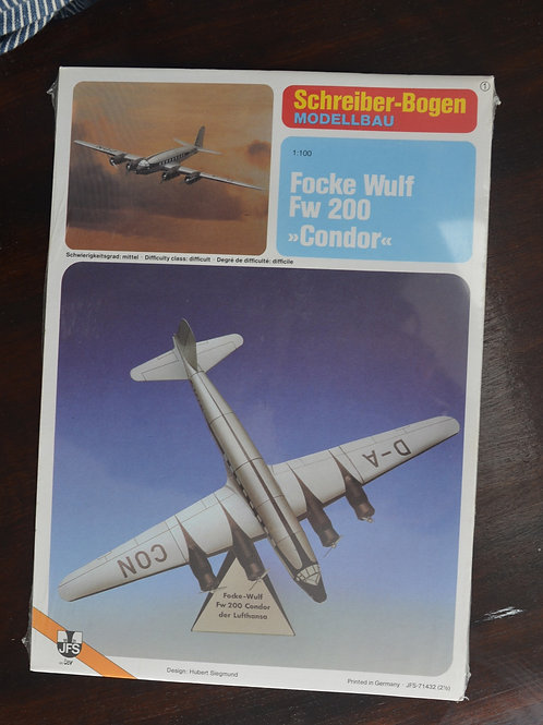 Condor Fw 200 paper model kit