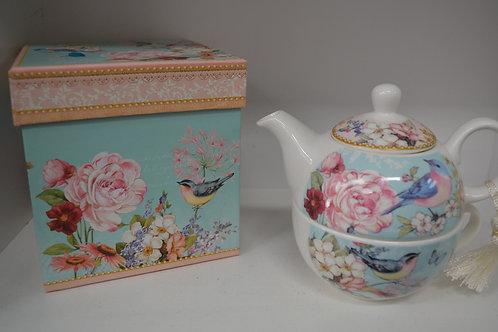 Blue Wren Tea for One Set