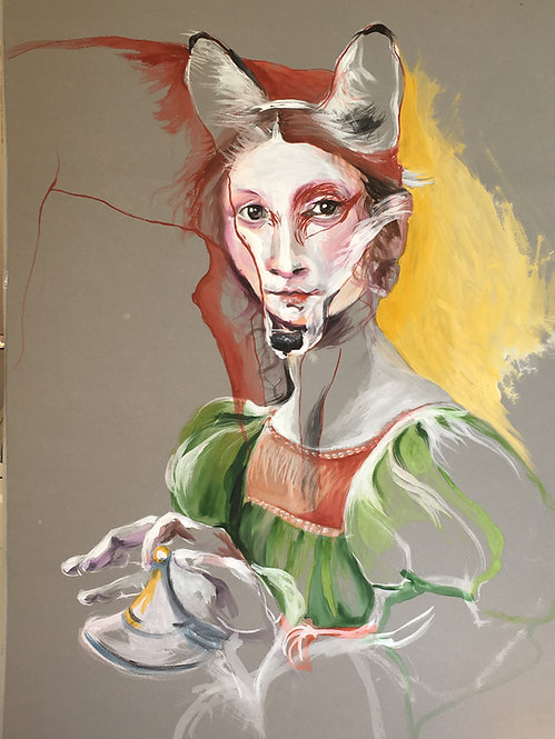 lady with a fox