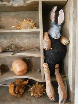 handmade clay rabbit