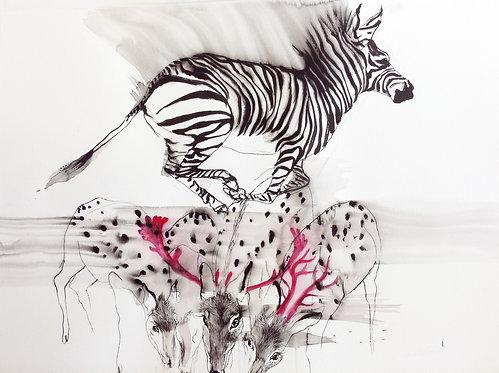 Leap in 2018, original drawing