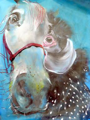 oldie but Goldie chicken and horse.JPG