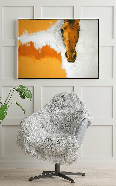 horse art framed