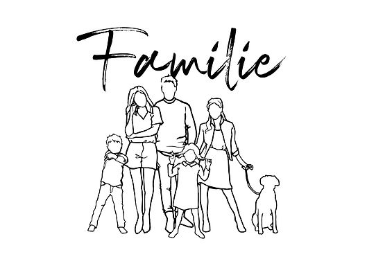 Poster für die Familie A3 TVE DESIGN