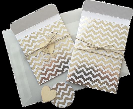 Papier Flachbeutel Set mit tollen Mustern