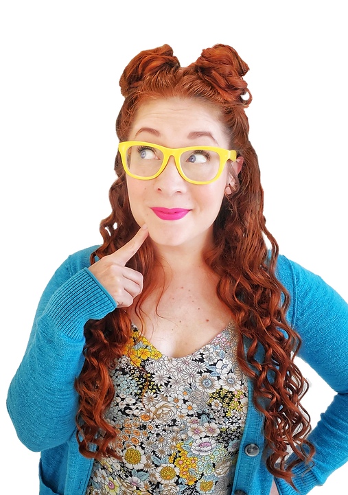 Miss Cassidy with yellow glasses - educator children's entertainer and theater artist in Pittsburgh