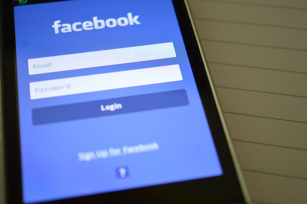 Smartphone Showing Facebook Application