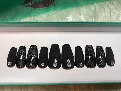 Black & Silver Nail Set