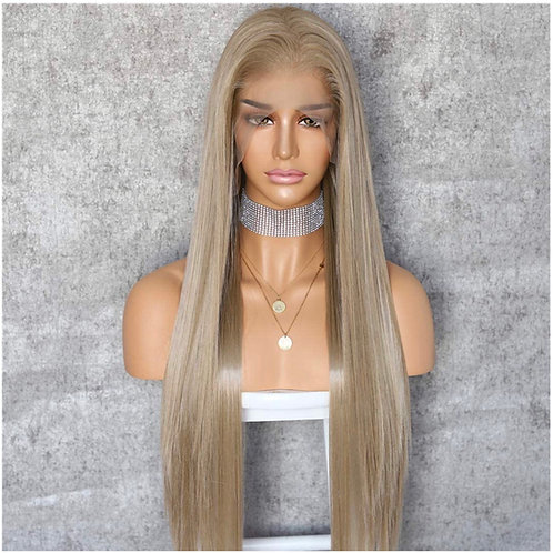 Long Straight Dirty Blonde Lace Front Wig