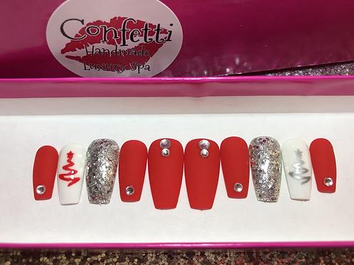 Red Holiday Nail Set