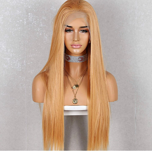 Light Ginger Long Straight Lace Front Wig