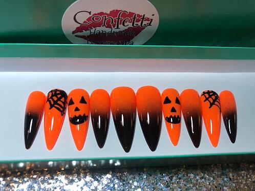 Pumpkin Halloween Nail Set