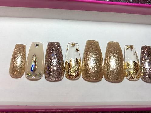 Fancy Gold Nail Set