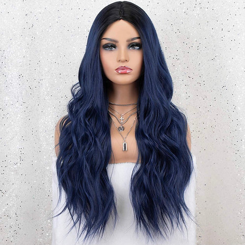 Blue to Black Ombre Wig