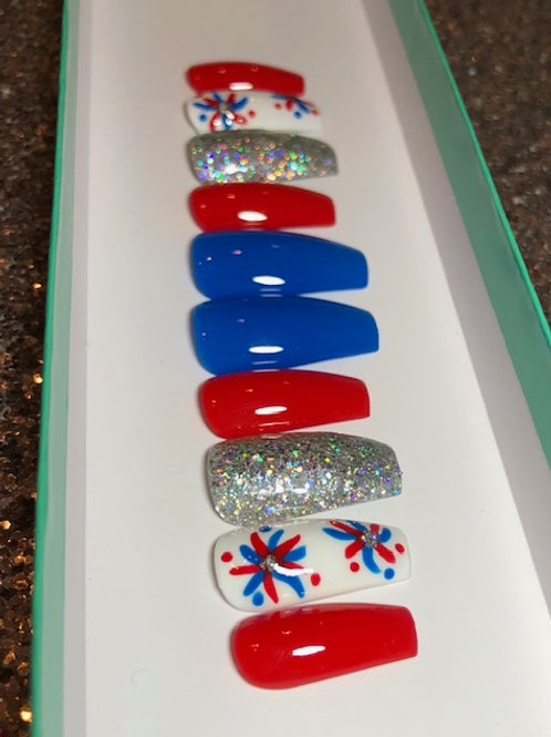 4th of July Nail Set