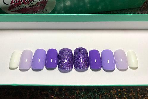 Purple Gradient Ombre Nail Set