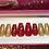 Thumbnail: Red Jelly & Gold Flake Nail Set