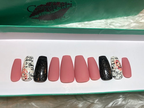 Flower Scroll Nail Set