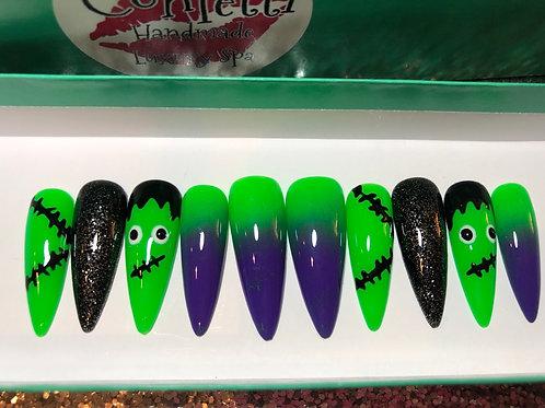 Halloween Frankenstein Nail Set