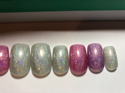 Mixed Holographic Nail Set