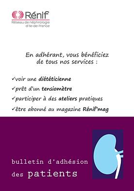Rénif, bulletin adhésion