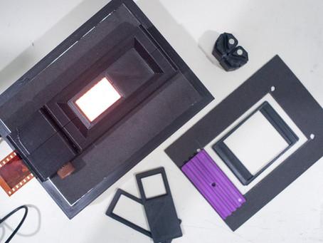 Ferramentas para digitalização de negativos com camera