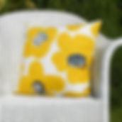 Yellow Retro Flower Cushion.JPG