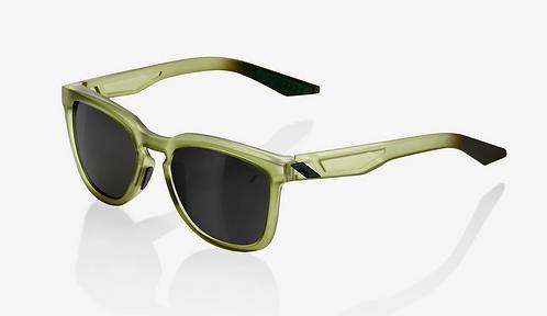 HUDSON Matte Translucent Olive Slate Black Mirror Lens