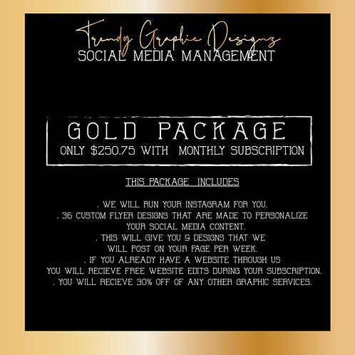 SOCIAL MEDIA MANAGEMENT ( GOLD )