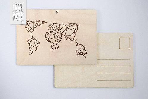 Postkarte - Weltkarte