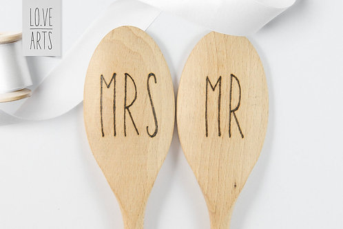 2x Kochlöffel - Mr & Mrs