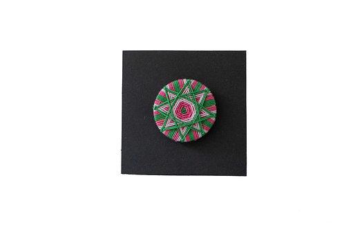 Posamentenknopf -grün/rosa