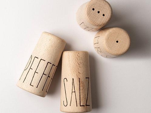 Salz & Pfeffer Streuer - Holz