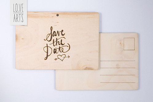 Postkarte - Save The Date - Love